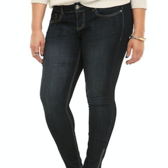 torrid Denim - Torrid Zipper Ankle Jeans